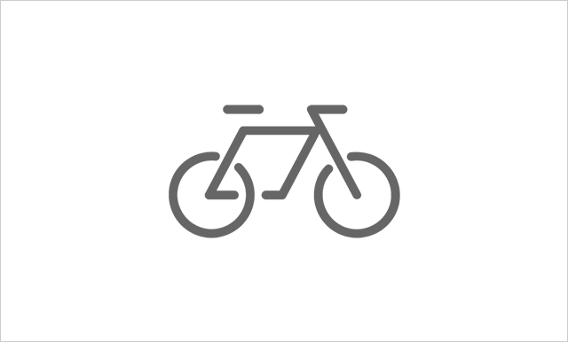 By bicycle or motorcycle